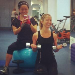 Melissa og meg på Anfi Del Mar´s treningssenter