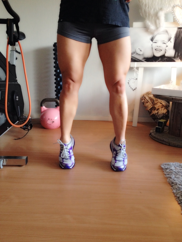 Get up on your toes, using your balance and calfs