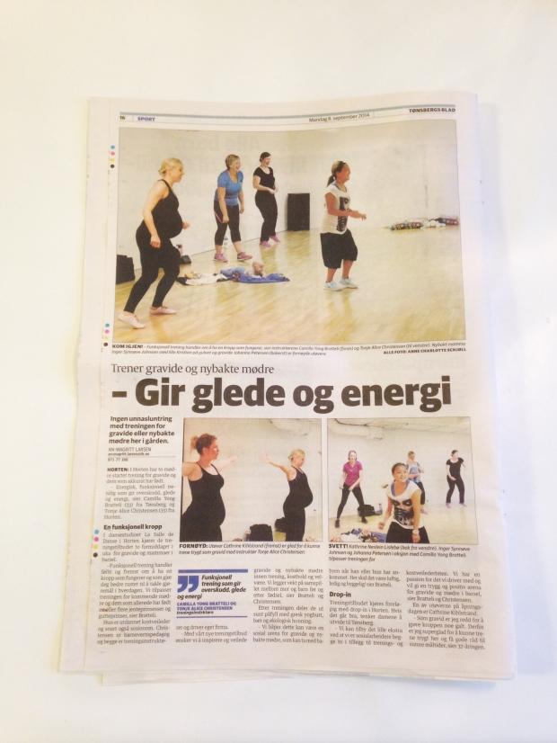 Vi fikk besøk av Tønsbergs blad/sporten