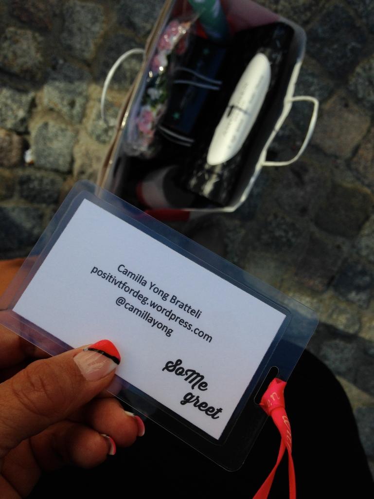 Goodiebagene er hentet og et VIP kort var på sin plass, hihi