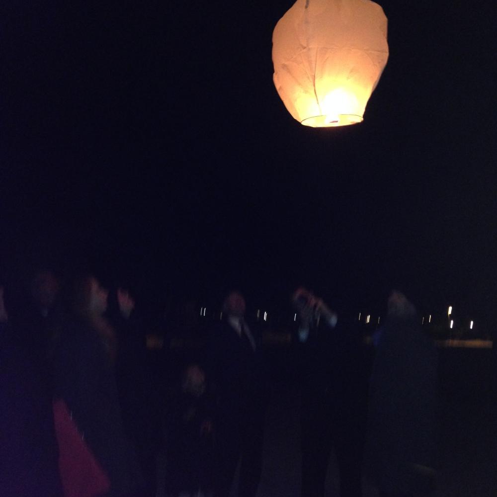 Kinesisk lanterne sendte vi opp- nydelig