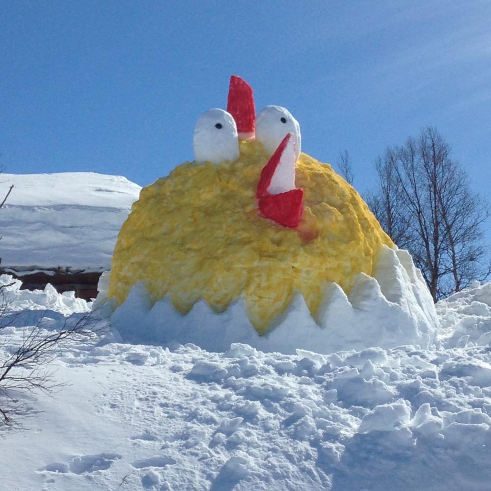 I´m sorry- and feel like a chicken... haha ! Bildekred: Noen utrolig dyktige hytteeiere i Sirdal