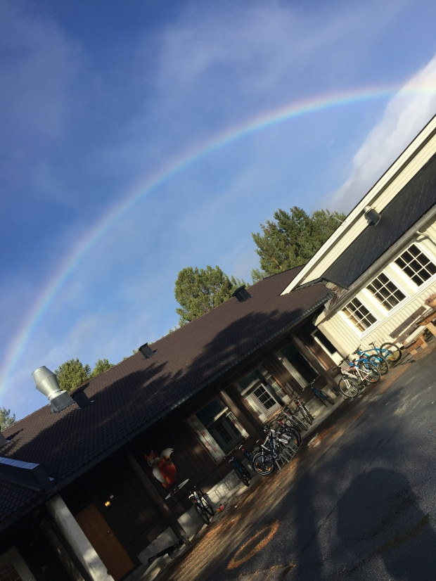 Nydelig på Geilomo med den flotte regnbuen!
