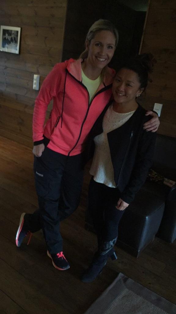 Cathrine og meg i Penthouse leiligheten deres !
